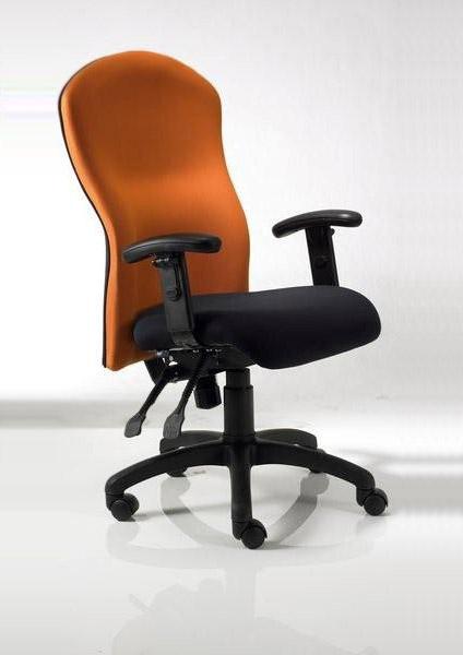 Midback with Orange Backrest