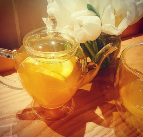 Turmeric tea at Hemsley Selfridges